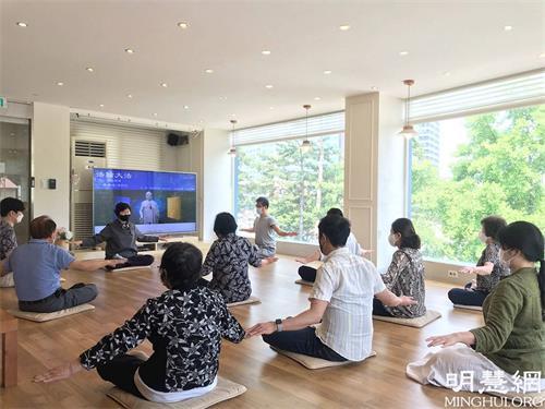 韓國法輪功九天班 新學員交流修煉的奧妙